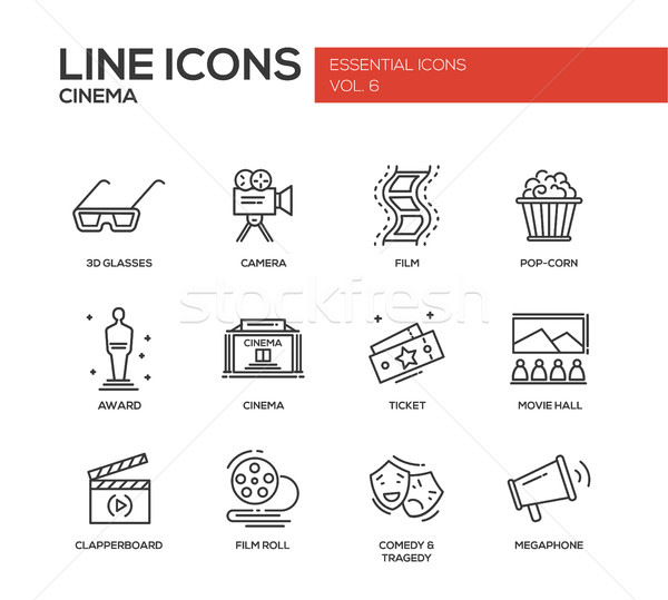 Cinéma film production ligne design Photo stock © Decorwithme