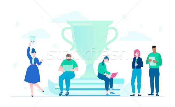 Business success - flat design style illustration Stock photo © Decorwithme
