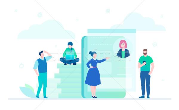 Workflow - flat design style illustration Stock photo © Decorwithme