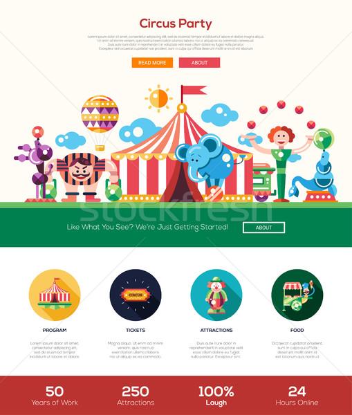 Circo carnaval festa site bandeira Foto stock © Decorwithme