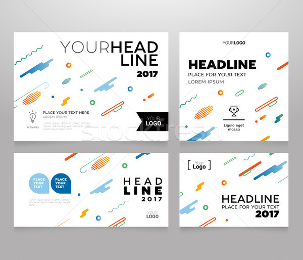 Headline Banner - vector template illustration poster Stock photo © Decorwithme