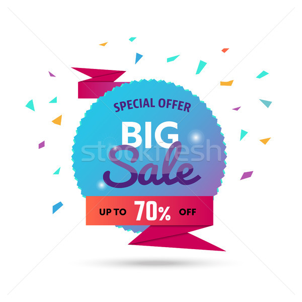 Big Sale - modern vector illustration of discount promo Stock photo © Decorwithme