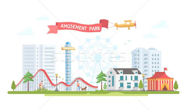 Città parco di divertimenti moderno design stile urbana Foto d'archivio © Decorwithme