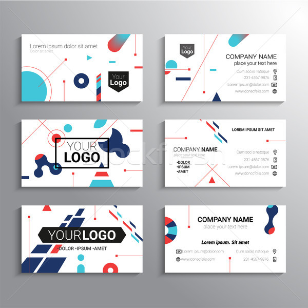 Stock photo: Set of business cards - vector template abstract background