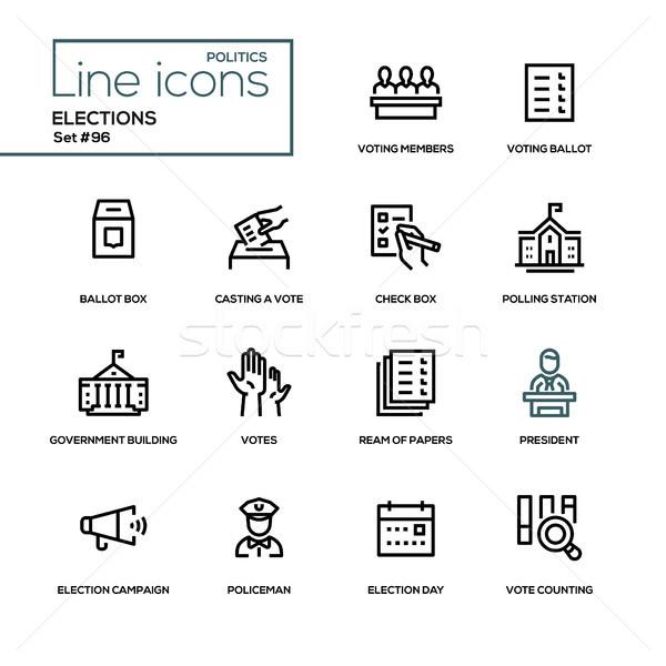 選挙 現代 行 デザイン 投票 ストックフォト © Decorwithme