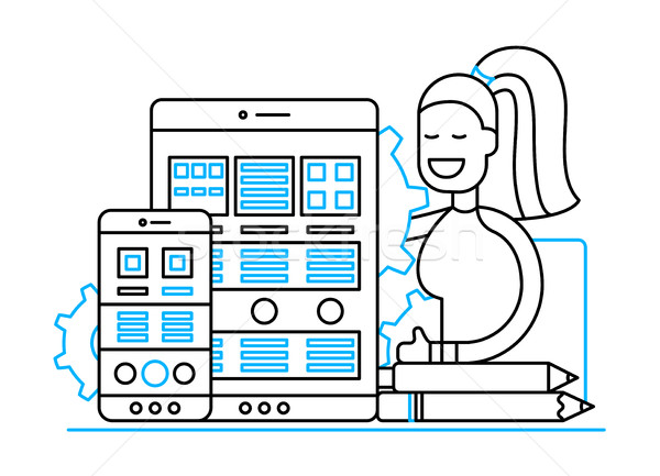 Web page optimisation design site bannière Photo stock © Decorwithme