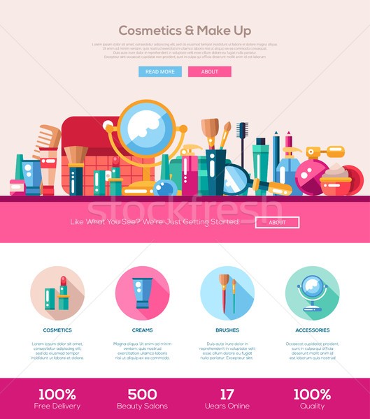 Terv kozmetika smink szalag webdesign elemek Stock fotó © Decorwithme