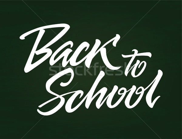 Back to School - vector drawn brush pen lettering Stock photo © Decorwithme