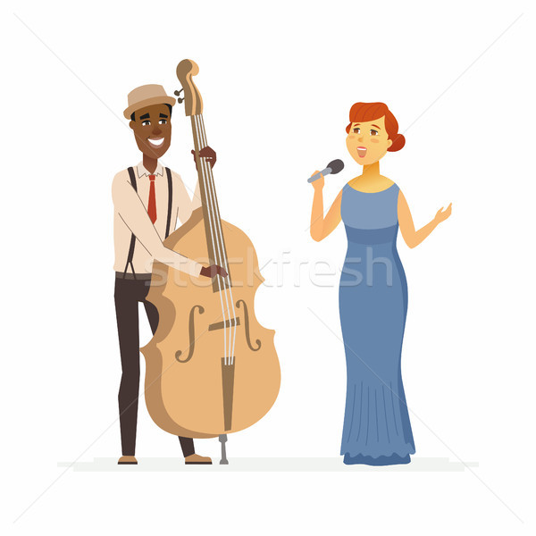 Musicians - cartoon people characters illustration Stock photo © Decorwithme