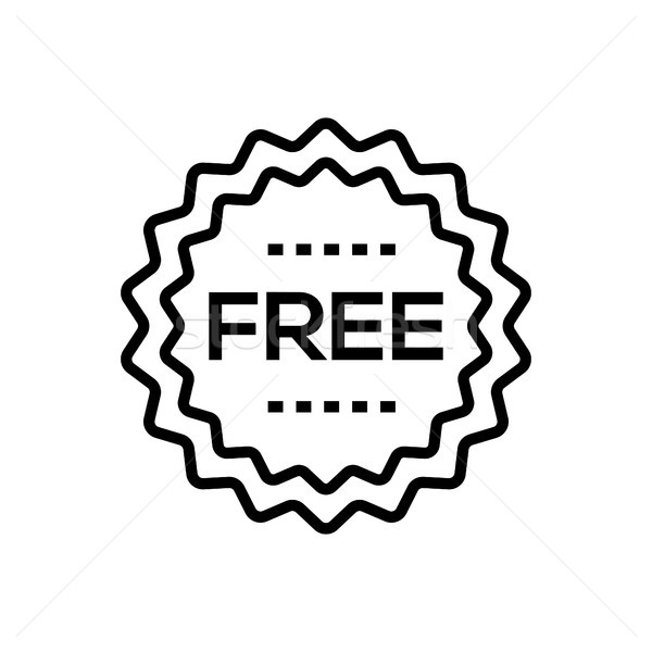 Free sign - line design single isolated icon Stock photo © Decorwithme