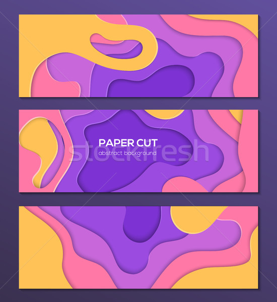 Multicolored abstract layout - set of modern colorful vector posters Stock photo © Decorwithme
