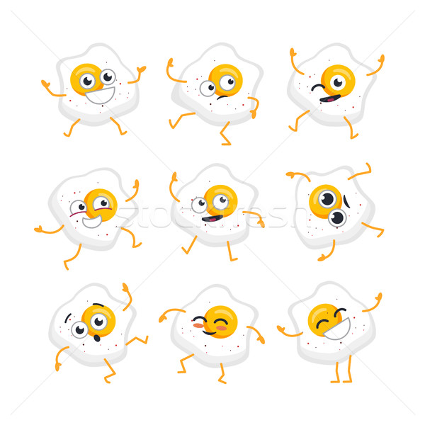 Egg Character - vector set of mascot illustrations. Stock photo © Decorwithme