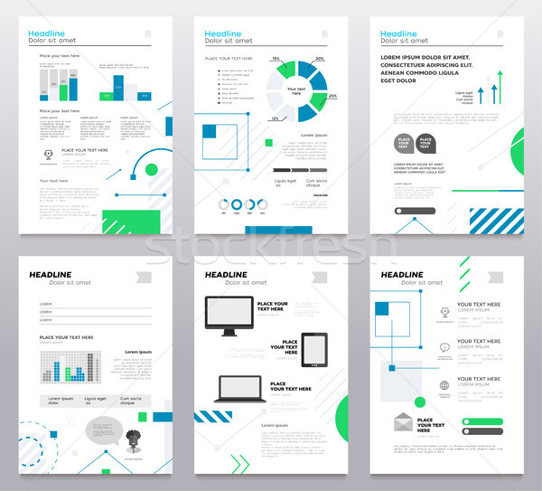 Presentation booklet cover - vector template a4 pages Stock photo © Decorwithme