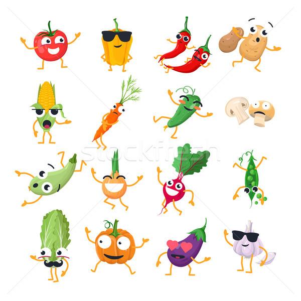 смешные овощей вектора изолированный Cartoon Сток-фото © Decorwithme