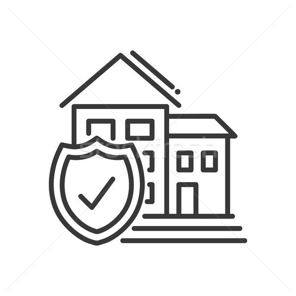 Insurance - vector modern line design illustrative icon Stock photo © Decorwithme