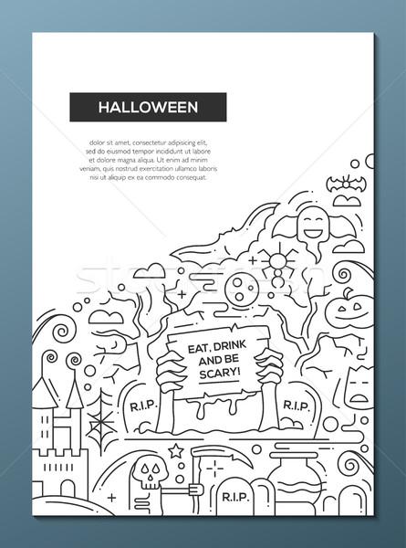 ハロウィン 行 デザイン パンフレット ポスター テンプレート ストックフォト © Decorwithme