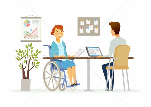 инвалидов женщину служба современных Сток-фото © Decorwithme