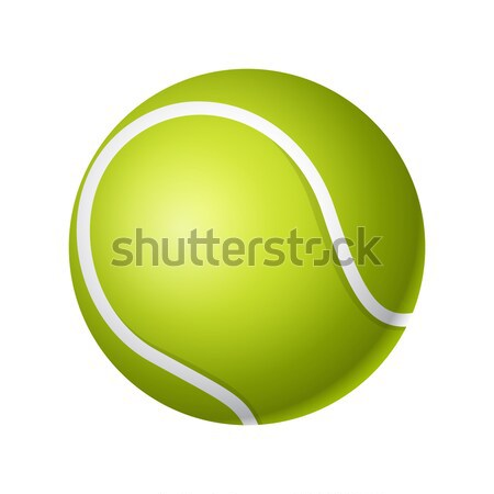 Tennis ball - modern vector realistic isolated object Stock photo © Decorwithme