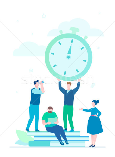Time management - flat design style illustration Stock photo © Decorwithme