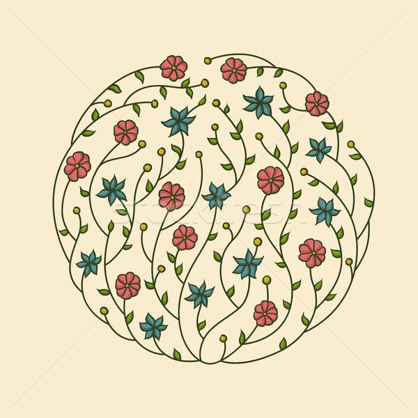 Illustration of flowers vignette Stock photo © Decorwithme