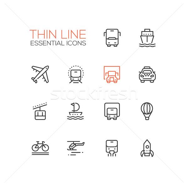 Zdjęcia stock: Transportu · nowoczesne · wektora · cienki · line