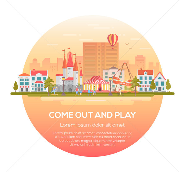 Come out and play - modern vector illustration Stock photo © Decorwithme