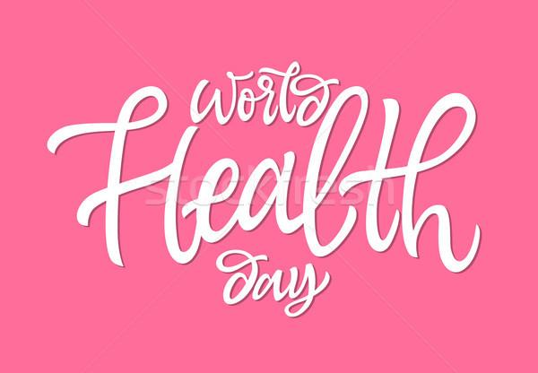 Monde santé jour vecteur dessinés à la main brosse Photo stock © Decorwithme