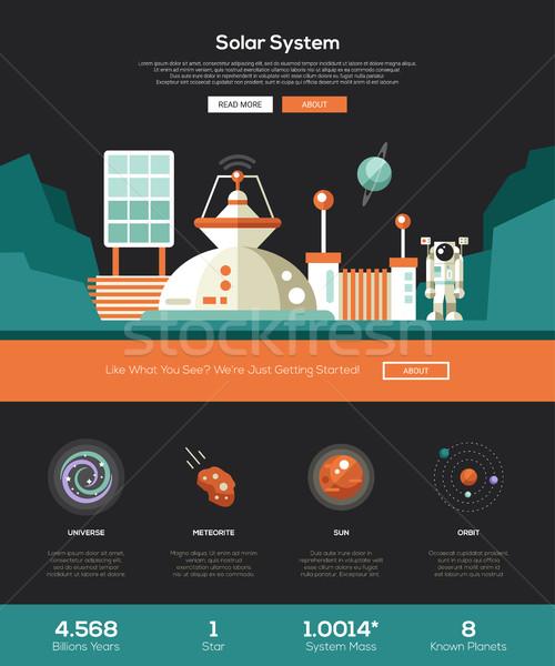 スペース 太陽系 ウェブサイト テンプレート ヘッダ アイコン ストックフォト © Decorwithme