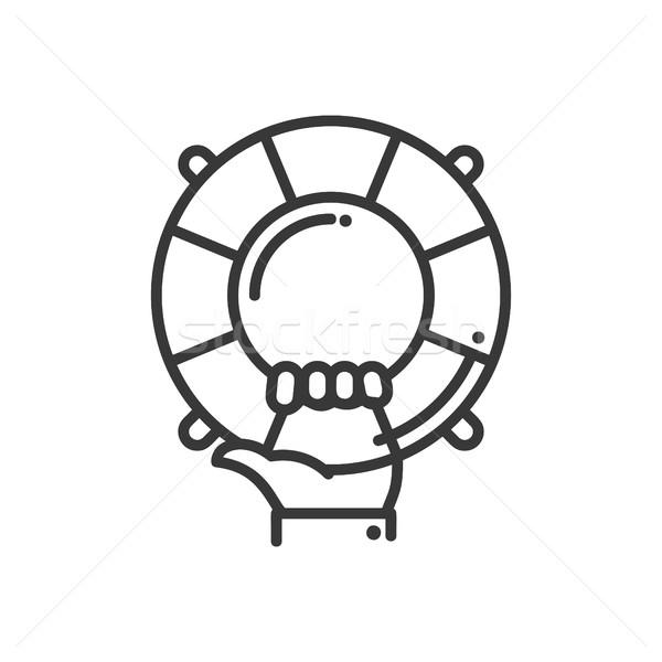 Help and Support - vector modern line design illustrative icon Stock photo © Decorwithme