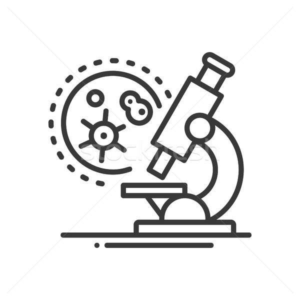 Medical laboratory - line design single isolated icon Stock photo © Decorwithme