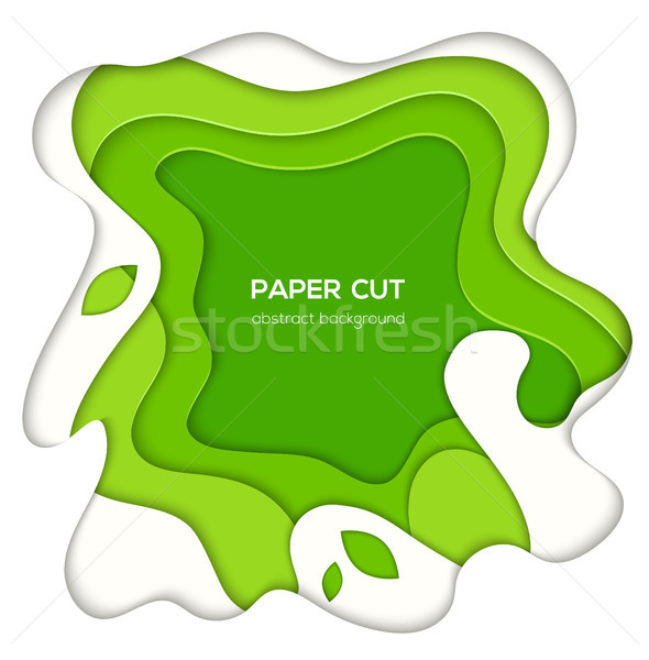 Groene abstract lay-out vector papier gesneden Stockfoto © Decorwithme