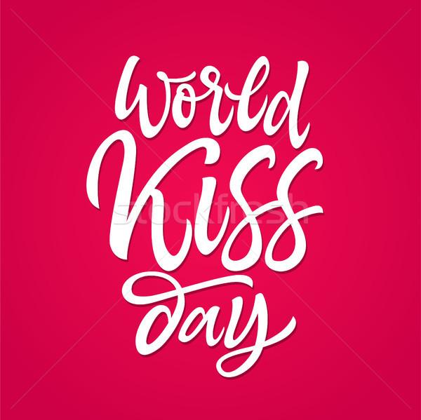 Mondo bacio giorno vettore pennello Foto d'archivio © Decorwithme