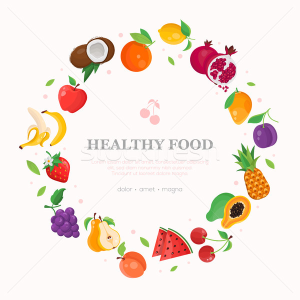 Healthy food - modern colorful vector illustration Stock photo © Decorwithme