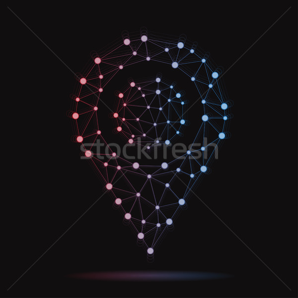 Illustration of modern vector atomic GPS mark Stock photo © Decorwithme