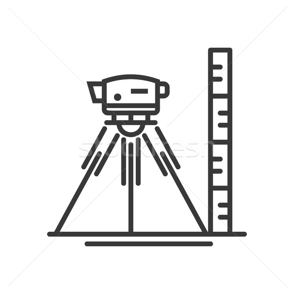 Surveyor level - vector modern line design illustrative icon Stock photo © Decorwithme