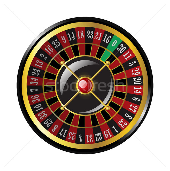 Casino roulette - modern vector isolated clip art Stock photo © Decorwithme