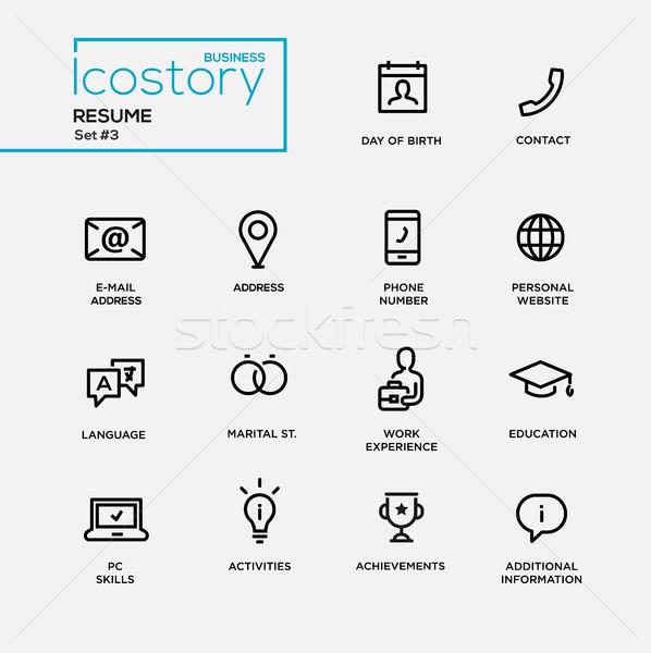 Foto stock: Moderno · simples · fino · linha · projeto