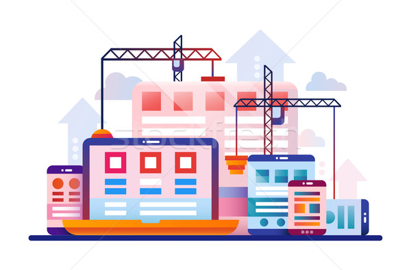 программированию инструменты дизайна сайт баннер вектора Сток-фото © Decorwithme