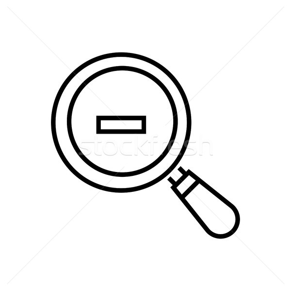 Zoom out - line design single isolated icon Stock photo © Decorwithme