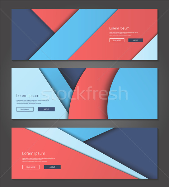 Unusual modern material design backgrounds banners set Stock photo © Decorwithme