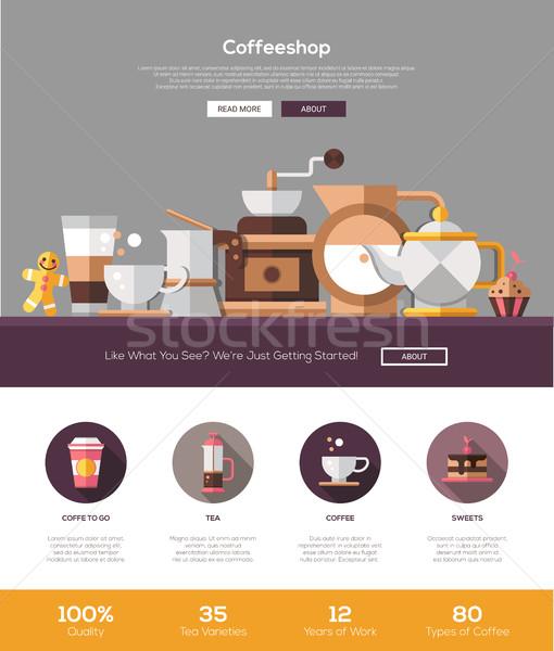 Photo stock: Café · café · boulangerie · site · modèle · tête