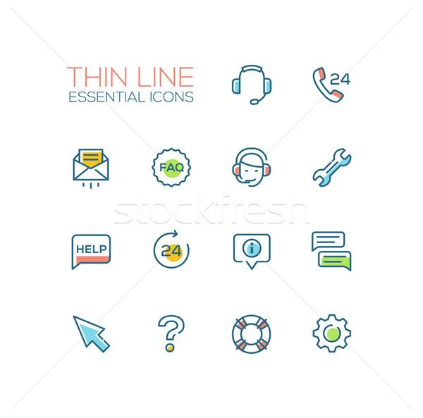Stockfoto: Helpen · centrum · dun · lijn · moderne
