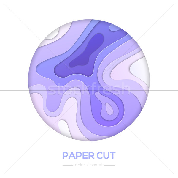 Purple abstract layout - vector paper cut banner Stock photo © Decorwithme