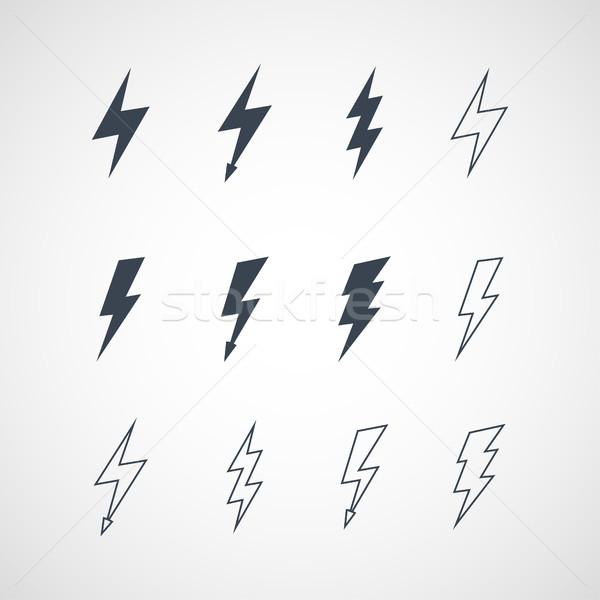 örnek vektör yıldırım ışık imzalamak Stok fotoğraf © Decorwithme