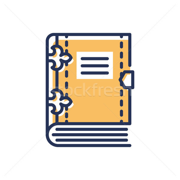Book- modern vector single line icon Stock photo © Decorwithme