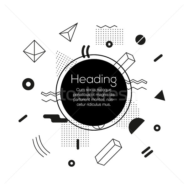 Abstract Background - vector template bw illustration Stock photo © Decorwithme