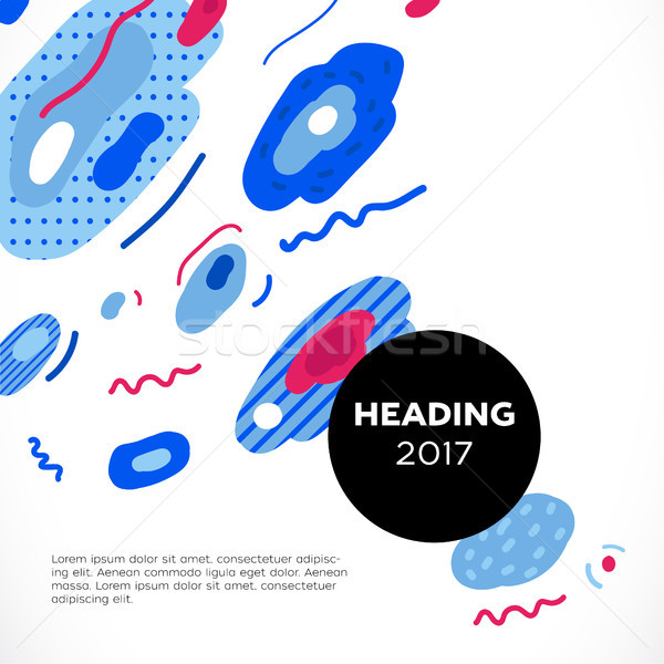Abstrakten Vektor Vorlage Illustration Design Präsentation Stock foto © Decorwithme