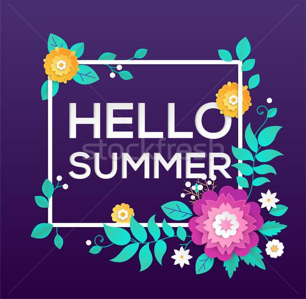 Olá verão moderno vetor colorido ilustração Foto stock © Decorwithme