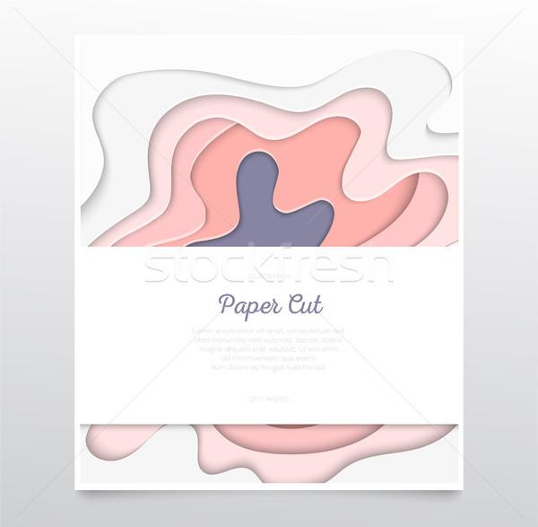 Abstrato rosa traçado vetor papel cortar Foto stock © Decorwithme