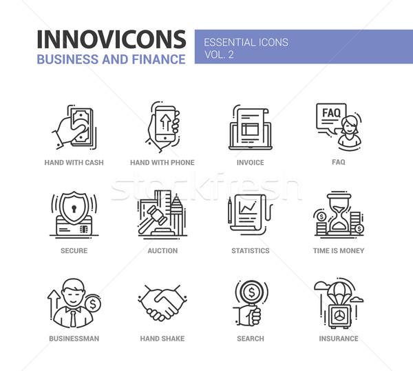 ストックフォト: 現代 · オフィス · ビジネス · 行 · デザイン · アイコン
